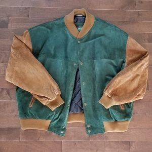 Other - Men's Suede Bomber Jacket